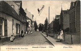 1 Oude Postkaart  MORTSEL   Oude God  Edegemse Steenweg    Villas 1905  Uitg. Bongartz  N°8 - Mortsel