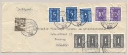 Nederlands Indië - 1949 - 10 Zegels - Ned Indie En Indonesia Op LP-cover Van KB VELDPOST BATAVIA/1 Naar Boskoop / NL - Netherlands Indies