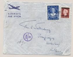 Nederlands Indië - 194? - Mengfrankering Ned Indië / Indonesia Op LP-cover, Deviezencensuur Van Padang Naar Kortenhoef - Nederlands-Indië