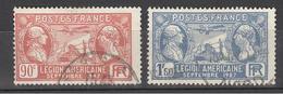 1927  Yt Nrs 244/45 Gest. - Légion Américaine - Gebruikt