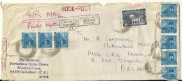 India 1971 Farrukhabad >> Brussels B / Arrived Damaged Parvenu Détérioré Beschadigd Toegekomen - Inde