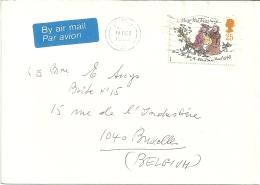 UK 1993 Croydon >> Bruxelles B / Christmas - 1952-.... (Elizabeth II)