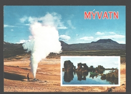 Myvatn - Lava Pillars At Lake Myvatn - Iceland