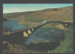 Fnjoskarbru - An Old Type Of Bridge In North-eastern Iceland - Vintage Car - Iceland