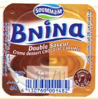 "Opercule Cover Crème Dessert "" Soummam "" BNINA Caramel Chocolat Custard Old Design - Opercules De Lait"