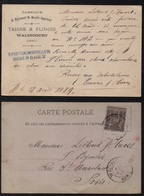 WALINCOURT - NORD - BIJOUX - OR / 1889 CARTE COMMERCIALE POUR PARIS  (ref 7449b) - 1876-1898 Sage (Type II)