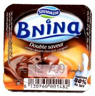 "Opercule Cover Crème Dessert "" Soummam "" BNINA Caramel Chocolat Custard New Design - Opercules De Lait"
