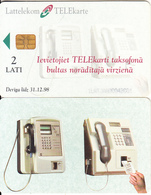 LATVIA(chip) - Lattelecom Cardphones, First Chip Issue, Chip Siemens 35, 08/97, Used - Latvia