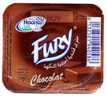 "Opercule Cover Crème Dessert "" Hodna "" Fury Chocolate Chocolat Custard Yoghurt Yoghourt Yahourt Yogourt Yaourt - Opercules De Lait"