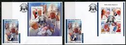 S. Tomè 2018, Pope J. Paul II, 4val In BF+BF In 2FDC - Sao Tome And Principe