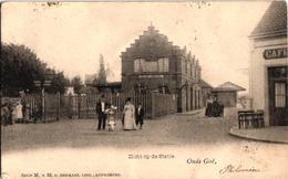 1 Oude Postkaart  MORTSEL   Oude God   Zicht  Op De Statie Uitgever  Hermans N°  65    C1905  Café - Mortsel