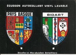CARTE -AUTOCOLLANT-ECUSSON ADHESIF-VINYL-Edit Cap-64-PAYS BASQUE-BIDART-TBE - Autocollants