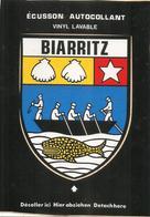 CARTE -AUTOCOLLANT-ECUSSON ADHESIF-VINYL-Edit Cap-64-BIARRITZ-TBE - Autocollants