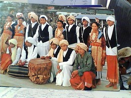 INDIA MEGHALAYA FIRMATA ARCIV. DI SHILLONG 1977 UMB. D'ROSARIO  JAINTIA DANCE VB1977  GU3007 - India