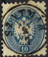 AUSTRIA HUNGARY ROMANIA 1863/54  10 Kr @ SZATHMÁR Now SATU-MARE  OPM - Usados