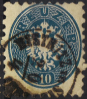 AUSTRIA HUNGARY ROMANIA 1863/54  10 Kr @ BISTRITZ Im SIEBENBÜRGEN Beszterce Now BISTRITA   OPM - Oblitérés