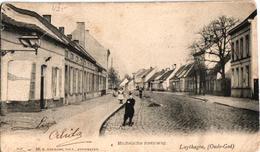 1 Oude Postkaart  MORTSEL   Oude God   Luythagen   Mechelse Steenweg   Uitg.  Hermans  N° 56  1909 - Mortsel