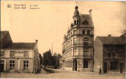 1 Oude Postkaart  MORTSEL   Oude God     Postkantoor  Café Restaurant Estaminet De Zwaan  1925 - Mortsel