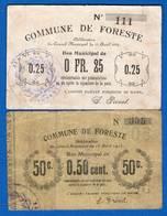 Foreste  2  Billets   02/976 +02977  Dans  L'etat - Bonds & Basic Needs