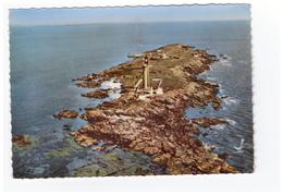 85 Noirmoutier Le Phare Du Pilier En Avion Au Dessus De .. Au Large Du Port De L' Herbaudiere CPSM GF Cachet 1965 - Noirmoutier