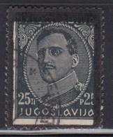 Yugoslavia 1934 King Aleksandar - Definitive, Error In Printing - Moved Black Frame, Used (o) Michel 285 - Geschnitten, Drukprobe Und Abarten