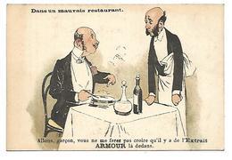 CHROMO - ARMOUR & Co, Chicago, Extrait De Viande - Dans Un Mauvais Restaurant - Chromos