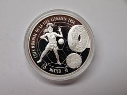 Mexiko 2005 5 Pesos Fussball WM 2006, 999er Silber PP (MZ260 - Mexico