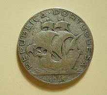 Portugal 2 1/2 Escudos 1948 Silver - Portugal