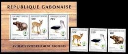(039 + 117) Gabon / Gabonaise  Animals / Animaux / Tiere / Dieren / Fauna ** / Mnh  Michel 1403-05 + BL 94 - Gabon