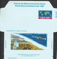 USA. Scott # UC56 Mint. Air Letter Sheet. World Communication Year 1983 - Entiers Postaux