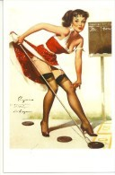 Pin Ups Of GIL ELVGREN Postcard RPPC - (149) Aiming To Please, 1960 - Size 15x10 Cm.aprox. - Pin-Ups