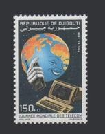 ¤NEW YEAR SALE¤ DJIBOUTI TELECOM JOURNEE MONDIALE TELECOMMUNICATIONS DAY Michel Mi 668 1998 Computer MNH ** RARE - Computers