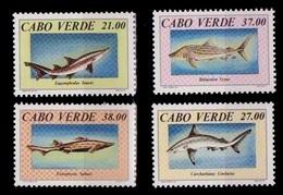 (050) Cape Verde / Cabo Verde  Fish / Poissons / Sharks / Requins / Haie / 1994  ** / Mnh   Michel 677-80 - Kap Verde