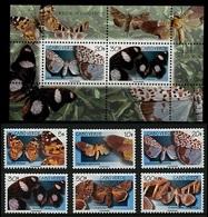 (013+36) Cape Verde  Butterflies / Papillons / Schmetterlinge / Vlinders / Insects 1999   ** / Mnh Michel 753-58 + BL 31 - Kap Verde