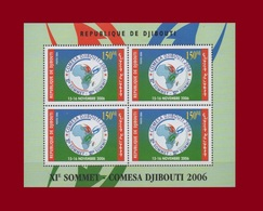 DJIBOUTI SOMMET COMESA SUMMIT AFRICA MAP BLOC BLOCK S/S 2006 Michel Mi 809 MNH ** RARE - Djibouti (1977-...)