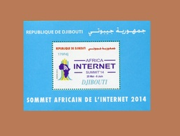 DJIBOUTI  14 TH AFRICAN SMUMMIT INTERNET AFRICA  14ème Sommet Africain Michel Mi. 819 2014 BLOC BLOCK S/S MNH ** RARE - Computers
