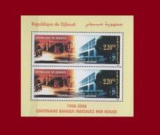 DJIBOUTI  MICHEL 2007 2008 2009 Mi 812 S/S BLOCK 163 CENTENARY CENTENAIRE 100 ANS BANQUE BANC INDOSUEZ MER ROUGE BIS MNH - Djibouti (1977-...)