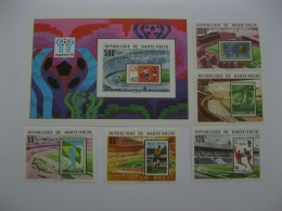 Upper Volta 1978 World Cup Football SC#486-491  Overpinted In Silver Imperf - Coppa Del Mondo