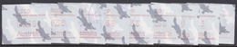 Australia ASC 1039s 1986 Frama Vending Machine Stamps,36c Platypus,set 9 ,used - 1980-89 Elizabeth II