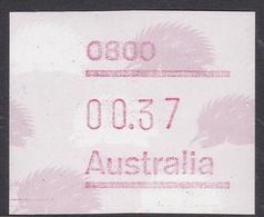 Australia ASC 1094 1987 Frama Vending Machine Stamps,37c Echidna, ,mint Never Hinged - 1980-89 Elizabeth II