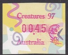 Australia ASC 1569 1997 Frama Vending Machine Stamps,45c Festive Frama Creatures 97 ,mint Never Hinged - ATM/Frama Labels