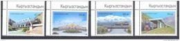 2009. Kyrgyzstan, Rail-Roads And Locomotives Of Kyrgyzstan, 4v Perforated, Mint/** - Kyrgyzstan
