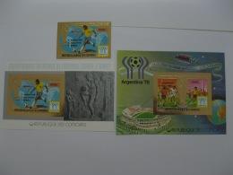 Comoros 1978 World Cup Football MICHEL No.485, BL181,BL182 Imperf - Comores (1975-...)