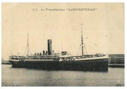 (ORL 304) Very Old - Cruise Ship Transatlantique - Labourdonnais - Dampfer
