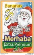 FRUIT AND VEGETABLES (BANANA) - MERHABA - MERRY CHRISTMAS 2012 (ECUADOR) / 01 - Fruits & Vegetables