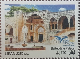 Lebanon NEW 2018 MNH Stamp - Beiteddine Palace - Joint Issue Between The Euromed Countries - Lebanon