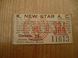 Voetbal Ticket Tervuren New Star - Tickets D'entrée