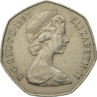Monnaie, Grande-Bretagne, Elizabeth II, 50 Pence, 1983, TB+, Copper-nickel - 1971-… : Monnaies Décimales