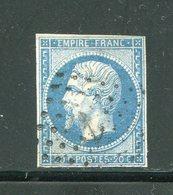 Y&T N°14B- Ancre Noire - 1853-1860 Napoleone III