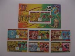 Comoros 1978 World Cup Football MICHEL No.478-483,BL174 Overpinted In Black - Coupe Du Monde